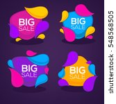 big sale  vector collection of... | Shutterstock .eps vector #548568505