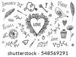 vector set of hand drawn... | Shutterstock .eps vector #548569291