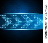 innovative loading arrow move... | Shutterstock .eps vector #548574061