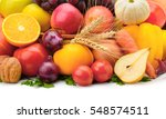 Fruits And Vegetables Isolated...