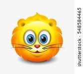 cute leo emoticon  emoji   ... | Shutterstock .eps vector #548584465