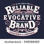vintage western label... | Shutterstock .eps vector #548588485