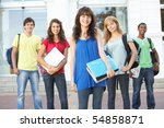 group of teenage students... | Shutterstock . vector #54858871