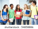 group of teenage students... | Shutterstock . vector #54858886