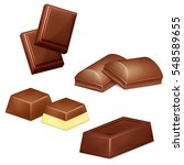 set of chocolate bars and... | Shutterstock .eps vector #548589655