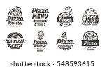 pizza italian. collection... | Shutterstock .eps vector #548593615