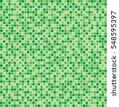 green mosaic tile seamless... | Shutterstock .eps vector #548595397