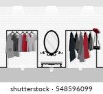 vector illustration with coat... | Shutterstock .eps vector #548596099