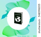 passport icon | Shutterstock .eps vector #548598355