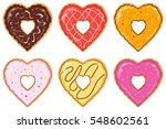 set of isolated heart shaped... | Shutterstock .eps vector #548602561