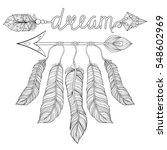 boho chic ethnic dream arrow... | Shutterstock .eps vector #548602969