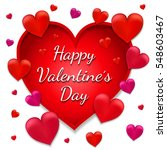 valentine's day card. vector... | Shutterstock .eps vector #548603467