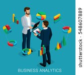 isometric business analyst ... | Shutterstock .eps vector #548607889