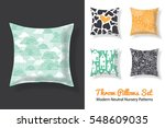 set of throw pillows with... | Shutterstock .eps vector #548609035