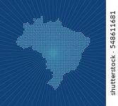 map of brazil | Shutterstock .eps vector #548611681