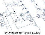 electronic circuit diagram in... | Shutterstock . vector #548616301