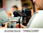 cameraman recording party with... | Shutterstock . vector #548621089
