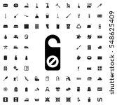 do not disturb icon... | Shutterstock .eps vector #548625409