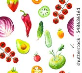 watercolor illustration with... | Shutterstock . vector #548636161