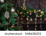 christmas decorations ... | Shutterstock . vector #548638201