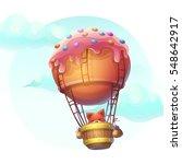 vector illustration fox in... | Shutterstock .eps vector #548642917