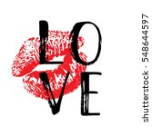 hand written word love. vector...   Shutterstock .eps vector #548644597