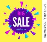 big sale banner template.... | Shutterstock .eps vector #548647864