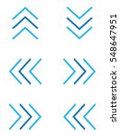 a set of vector blue chevrons | Shutterstock .eps vector #548647951