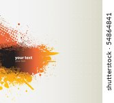 grunge banner. vector. | Shutterstock .eps vector #54864841