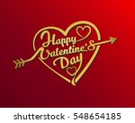 happy valentines day hand...   Shutterstock .eps vector #548654185