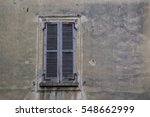 old brown window with closed...   Shutterstock . vector #548662999