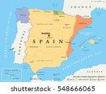 spain autonomous communities... | Shutterstock .eps vector #548666065