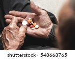 many multi colored pills in a... | Shutterstock . vector #548668765