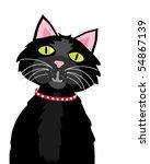vector illustration of a black...   Shutterstock .eps vector #54867139