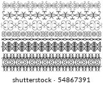 beautiful black trim collection ... | Shutterstock . vector #54867391