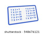 multiplication table for the...   Shutterstock . vector #548676121