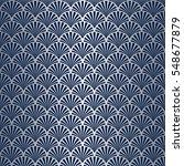 seamless art deco shell pattern ... | Shutterstock .eps vector #548677879