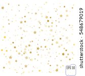vector gold confetti background ... | Shutterstock .eps vector #548679019