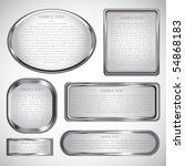 Silver Vector Label