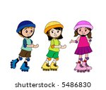 roller skating   vector | Shutterstock .eps vector #5486830