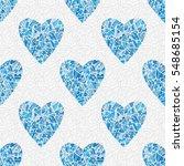 Seamless Blue Heart Pattern....