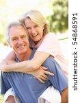 portrait of romantic senior...   Shutterstock . vector #54868591
