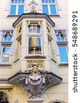 Small photo of bay of a historical building in Aachen, Germany