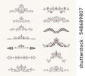 set of calligraphic design...   Shutterstock .eps vector #548689807