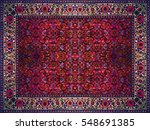 persian carpet texture ... | Shutterstock . vector #548691385