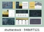 original presentation templates ... | Shutterstock .eps vector #548697121