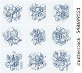 abstract isometrics backgrounds ... | Shutterstock .eps vector #548699521