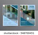 business template for brochure  ... | Shutterstock .eps vector #548700451