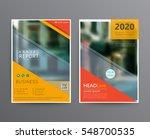 business template for brochure  ... | Shutterstock .eps vector #548700535