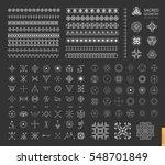 sacred geometry. set of minimal ... | Shutterstock .eps vector #548701849